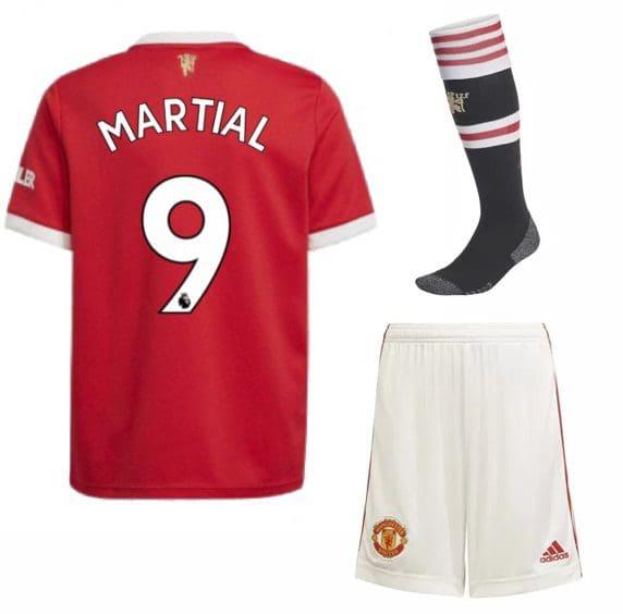 Футбольная форма Марсьяль 9 Манчестер Юнайтед 2022 с гетрами