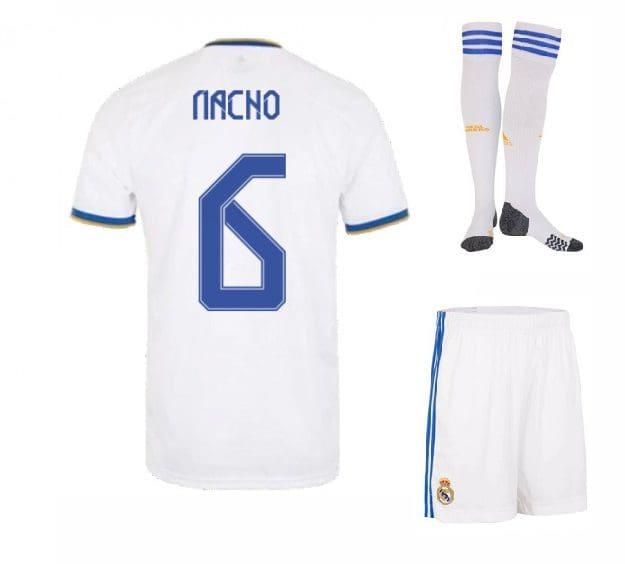 Футбольная форма Начо 6 Реал Мадрид 2022 с гетрами