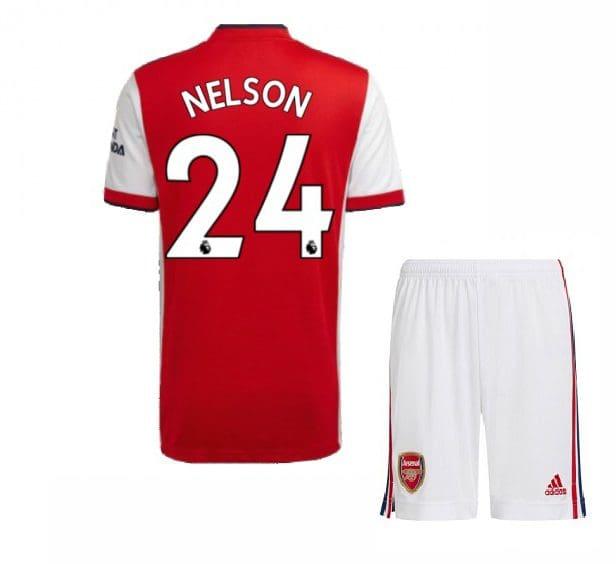 Футбольная форма Нельсон 24 Арсенал 2021-2022