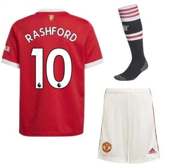 Футбольная форма Рашфорд 10 Манчестер Юнайтед 2022 с гетрами