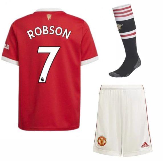 Футбольная форма Робсон 7 Манчестер Юнайтед 2022 с гетрами
