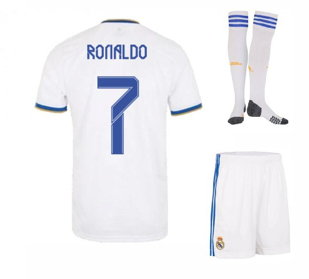 Футбольная форма Роналду 7 Реал Мадрид 2022 с гетрами