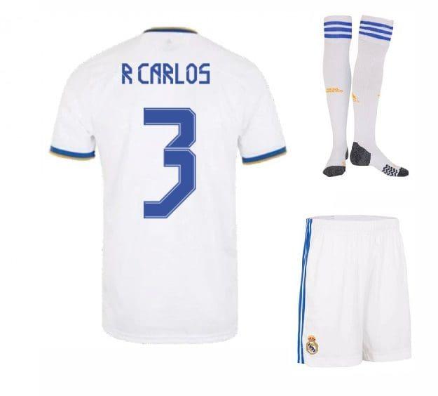 Футбольная форма Р Карлос 3 Реал Мадрид 2022 с гетрами