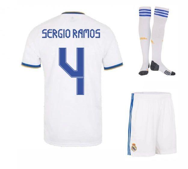 Футбольная форма Серхио Рамос 4 Реал Мадрид 2022 с гетрами