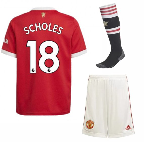 Футбольная форма Скоулз 18 Манчестер Юнайтед 2022 с гетрами