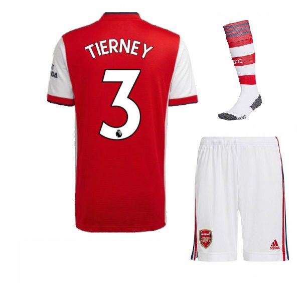 Футбольная форма Тирни 3 Арсенал 2022 с гетрами