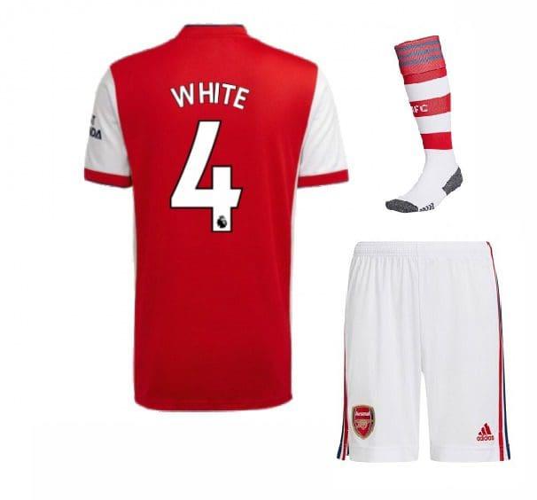 Футбольная форма Уайт 4 Арсенал 2022 с гетрами