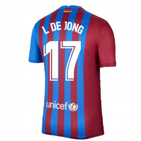 Футболка Люк Де Йонг 17 Барселона 2021-2022