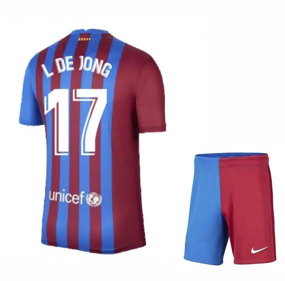 Футбольная форма Люк Де Йонг 17 Барселона 2021-2022