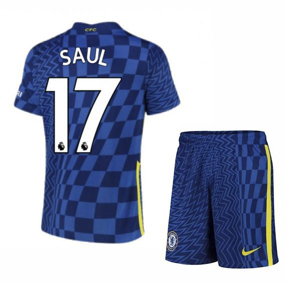 Футбольная форма Сауль 17 Челси 2021-2022