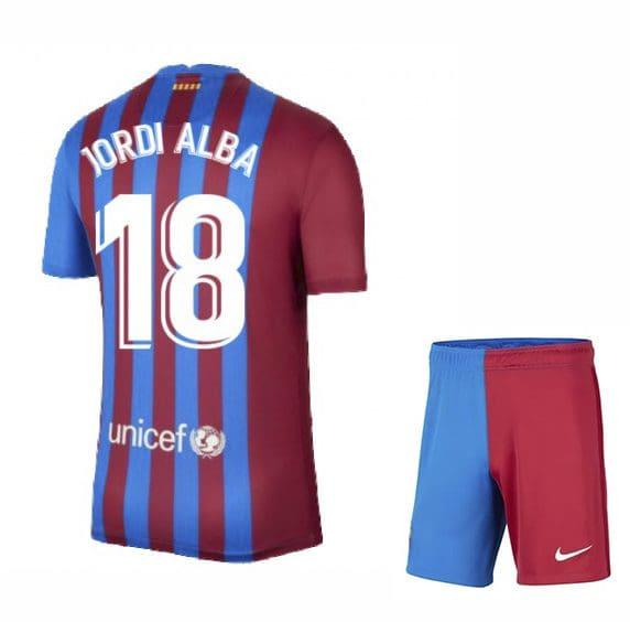 Футбольная форма Жорди Альба 18 Барселона 2021-2022