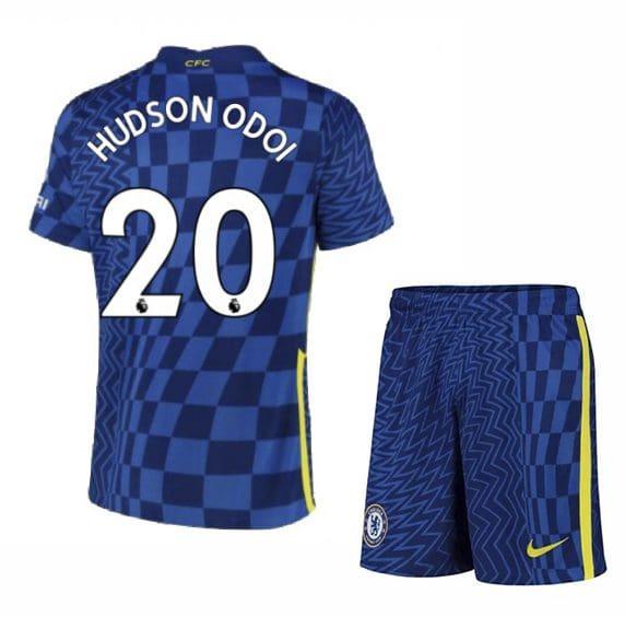 Футбольная форма Хадсон-Одои 20 Челси 2021-2022