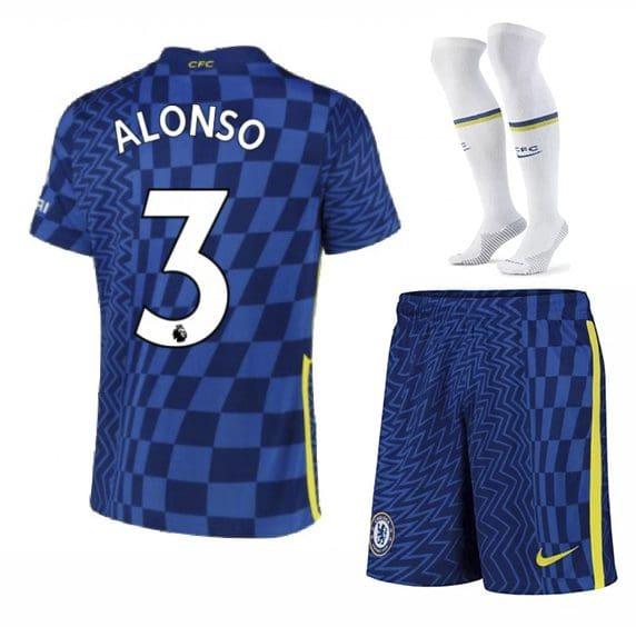 Футбольная форма Алонсо 3 Челси 2022 с гетрами