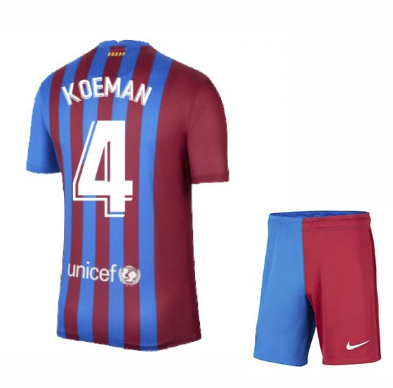 Футбольная форма Куман 4 Барселона 2021-2022