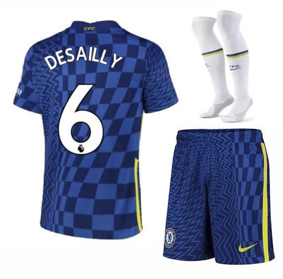 Футбольная форма Десайи 6 Челси 2022 с гетрами