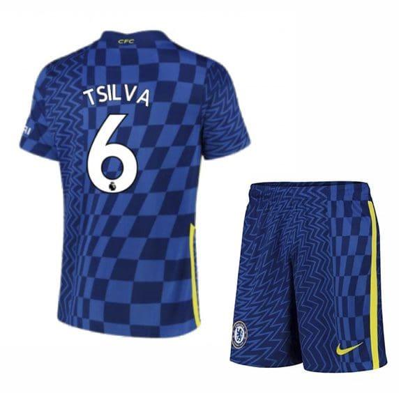 Футбольная форма Тьяго Силва 6 Челси 2021-2022
