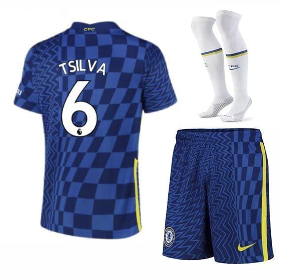 Футбольная форма Тьяго Силва 6 Челси 2022 с гетрами